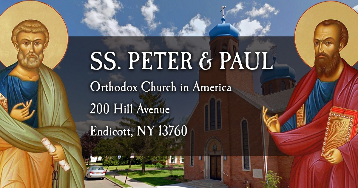 Ss Peter Amp Paul Orthodox Church Home